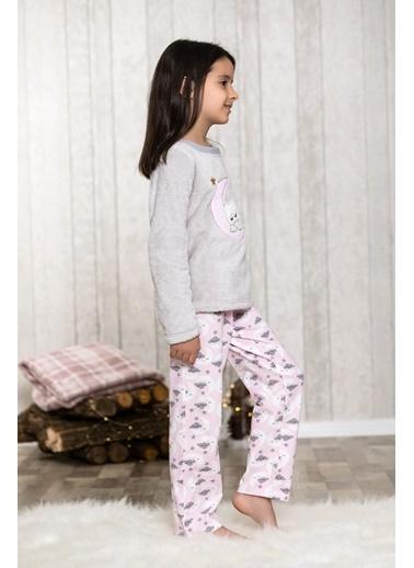 Lingabooms Bulutlu 2'li Çocuk Pijama Takım  Gri